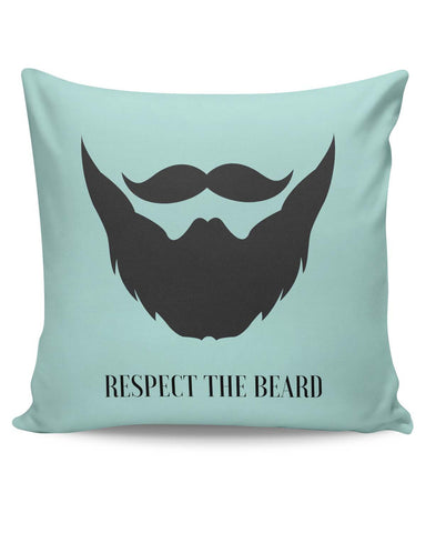 PosterGuy | Respect The Beard (Blue) Cushion Cover Online India