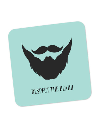 Buy Coasters Online | Respect The Beard (Blue) Coaster Online India | PosterGuy.in