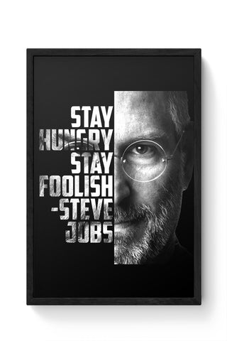 Framed Posters Online India | Steve Jobs Laminated Framed Poster Online India