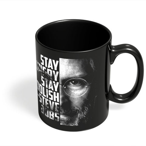 Coffee Mugs Online | Steve Jobs Black Coffee Mug Online India