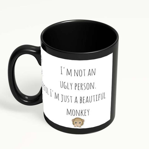 Coffee Mugs Online | Beautiful Monkey - That's Me! Black Coffee Mug Online India