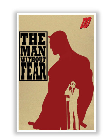 The Man Behind Fear Daredevil Inspired Poster