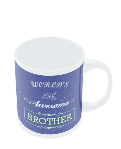 Coffee Mugs Online | World's Most Awesome Brother | Gift For Brother Mug Online India