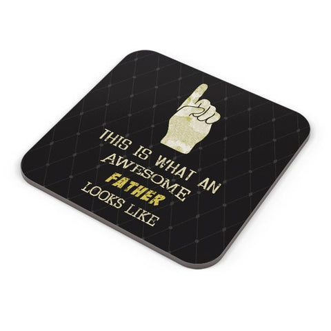 Awesome Father | Fathers Day Coaster Online India