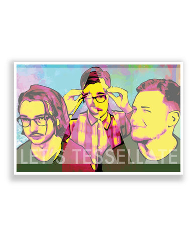 Posters Online | Let's Tessellate Alt-J Inspired Pop Art Poster Online India | Designed by: Rhea Ahuja