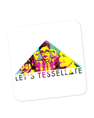Coasters | Let's Tessellate Alt-J Inspired Pop Art Coaster 1543017329 Online India | PosterGuy.in