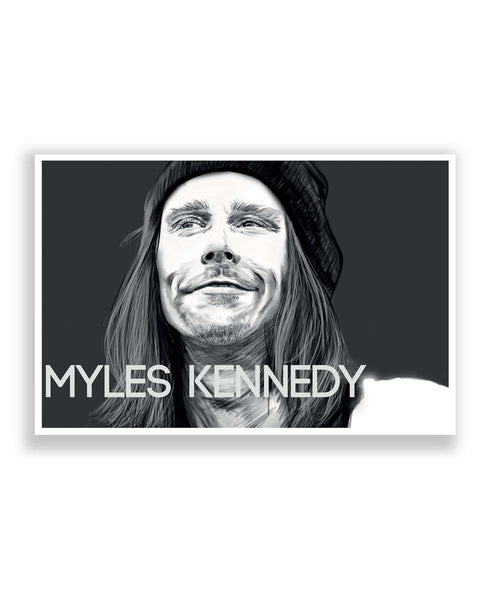 Posters Online | Myles Kennedy Face Sketch Poster Online India | Designed by: Rhea Ahuja