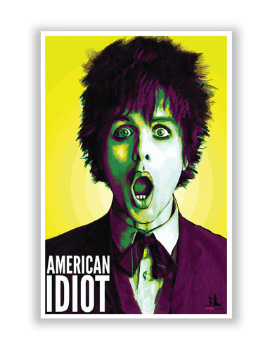 Posters Online | Billie Joe Armstrong Green Day Inspired Poster Online India | Designed by: Rhea Ahuja