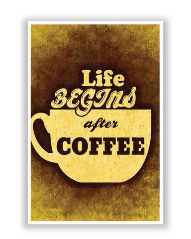 Posters Online | Life Begins After Coffee Poster Online India | Designed by: Akshayxspear's
