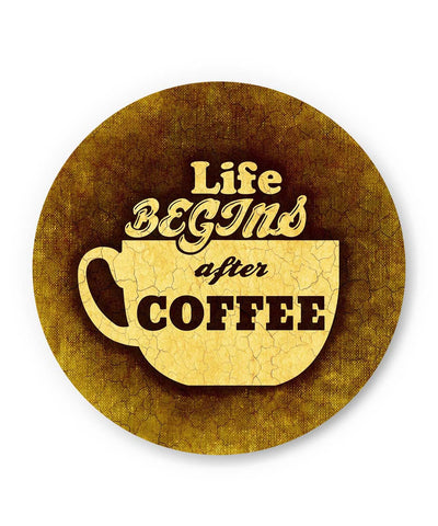PosterGuy | Life Begins After Coffee Fridge Magnet 1553056019-fm Online India