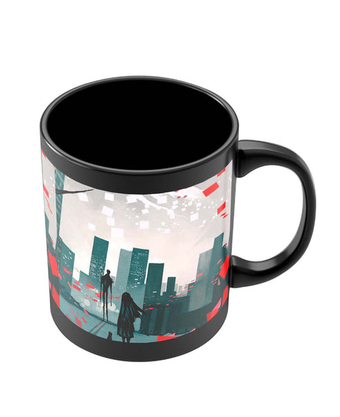 Coffee Mugs Online | I am Lonely Art Illusttration Black Coffee Mug Online India