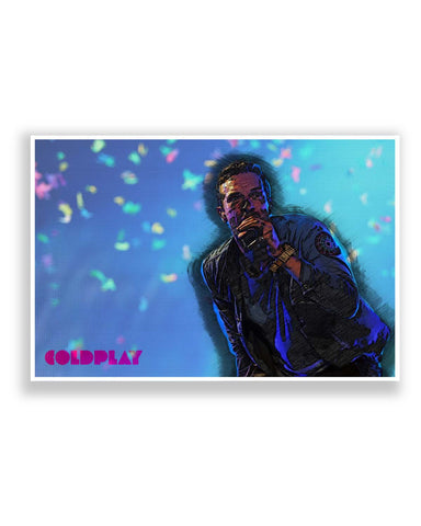 Posters Online | Chris Martin Coldplay Inspired Fan Art Poster Online India | Designed by: SkyLit Designs