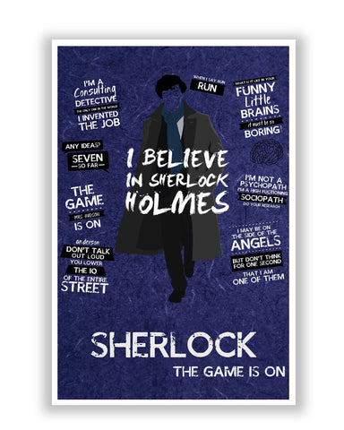 Posters Online | I Believe In Sherlock BBC Series Inspired Poster Online India | Designed by: SkyLit Designs