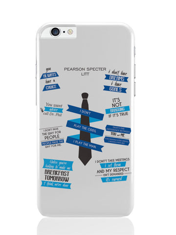 iPhone 6 Plus / 6S Plus Covers & Cases | I Don'T Play The Odds, I Play The Man | Suits Quotes iPhone 6 Plus / 6S Plus Covers and Cases Online India