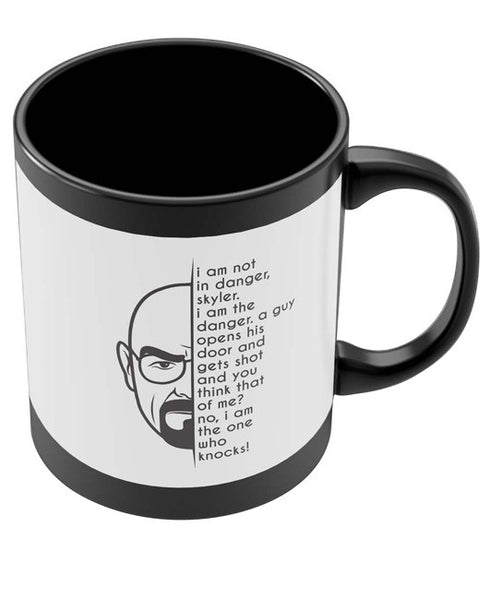 Coffee Mugs Online | I am not in Danger | I am the Danger Black Coffee Mug Online India