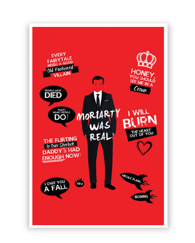 Posters Online | Moriarty Was Real Poster Online India | Designed by: SkyLit Designs