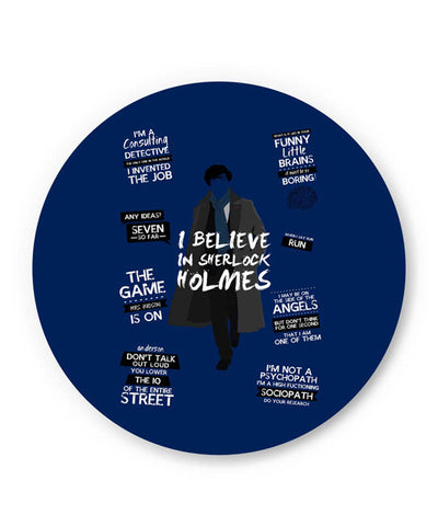 PosterGuy | I Believe In Sherlock Holmes | Fan Art Fridge Magnet Online India by SkyLit Designs