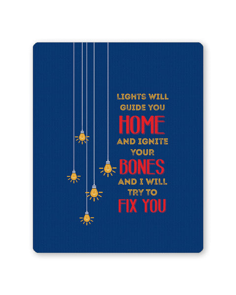 Buy Mousepads Online India | I Will try to Fix You | Pop Song Inspired Mouse Pad Online India