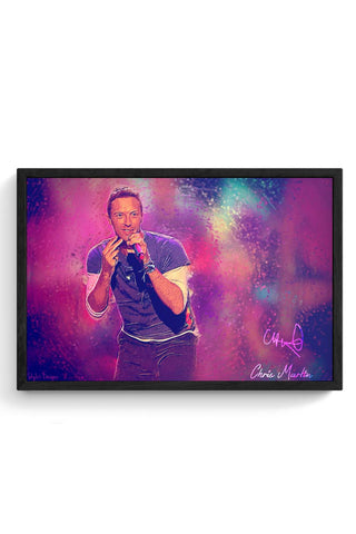 Framed Posters Online India | Chris Martin Coldplay Laminated Framed Poster Online India