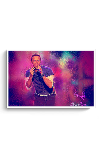 Posters Online | Chris Martin Coldplay Poster Online India | Designed by: SkyLit Designs