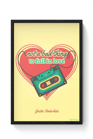 Framed Posters Online India | Not A Bad Thing - Justin Timberlake Laminated Framed Poster Online India