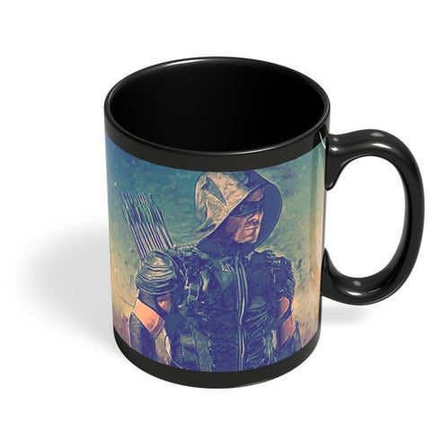 Arrow Painting Black Coffee Mug Online India