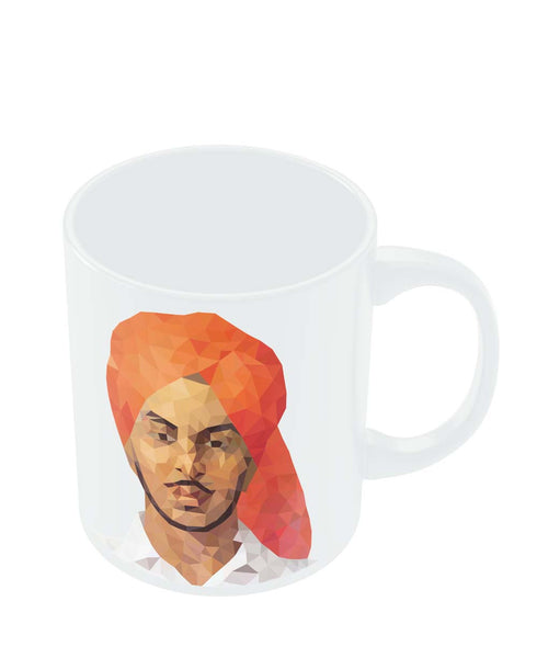 Coffee Mugs Online | Bhagat Singh Poly Art Mug Online India