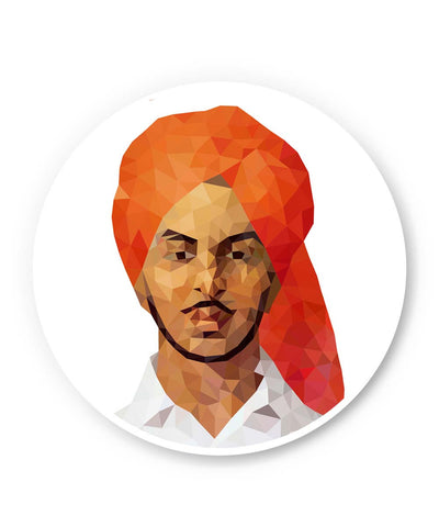 PosterGuy | Bhagat Singh Poly Art Fridge Magnet 1573014519-FM Online India