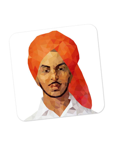 Buy Coasters Online | Bhagat Singh Poly Art Coaster Online India | PosterGuy.in