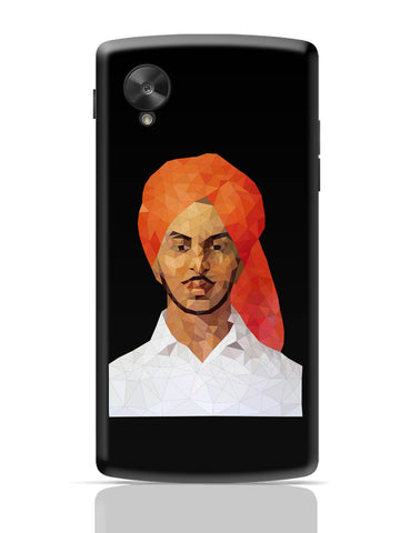 Google Nexus 5 Covers | Bhagat Singh Poly Art Google Nexus 5 Cover Online India