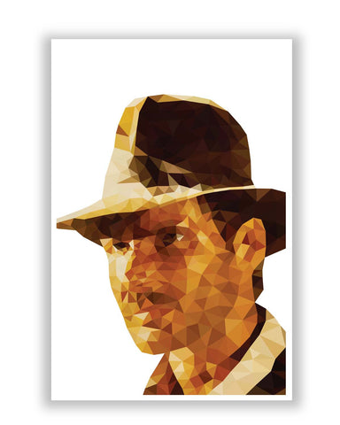Posters Online | Harrison Ford Poly Art Poster Online India | Designed by: Gagandeep Singh
