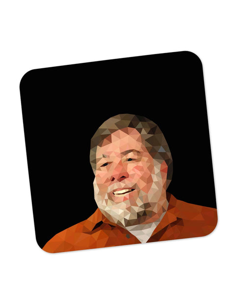Buy Coasters Online | Steve Wozniak Low Poly Art Coaster Online India | PosterGuy.in