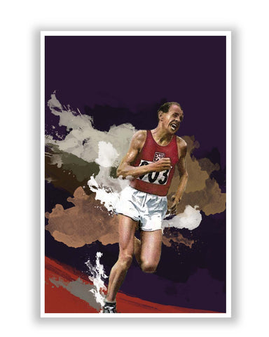 Posters Online | Emil Zatopek Poster Online India | Designed by: Design Walrus
