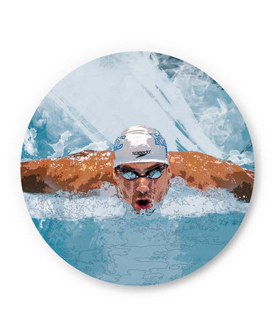 PosterGuy | Michael Phelps Swimming Champion Fridge Magnet 1583037519-FM Online India