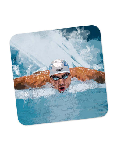 Buy Coasters Online | Michael Phelps Swimming Champion Coaster Online India | PosterGuy.in