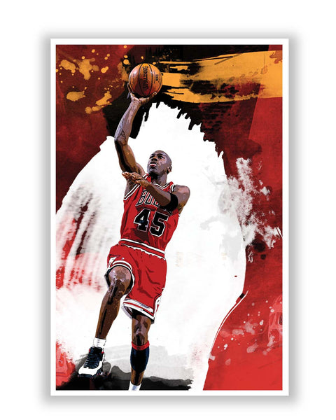 Posters Online | Michael Jordan Living the Dream Poster Online India | Designed by: Design Walrus