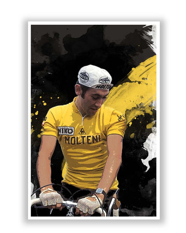 Posters Online | Eddy Merckx Bicycle Racer Poster Online India | Designed by: Design Walrus