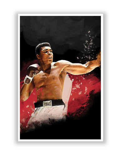 Posters Online | The Great Muhammad Ali Poster Online India | Designed by: Design Walrus