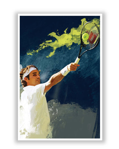 Posters Online | Roger Federer Tennis Legend Poster Online India | Designed by: Design Walrus