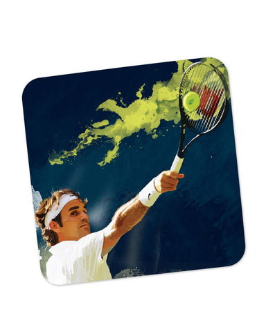 Buy Coasters Online | Roger Federer Tennis Legend Coaster Online India | PosterGuy.in