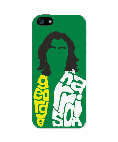 iPhone 5 / 5S Cases & Covers | George Harrison Typography | Beatles Legend iPhone 5 / 5S Case Online India