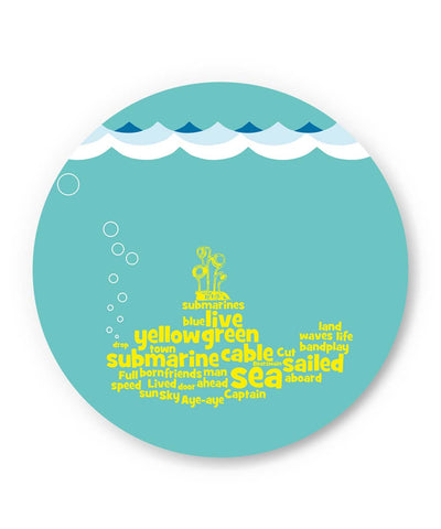 PosterGuy | Yellow Submarines | The Beatles Inspired Fridge Magnet Online India by Design Walrus