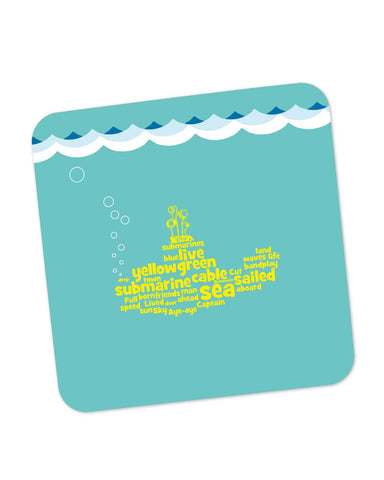 Buy Coasters Online | Yellow Submarines | The Beatles Inspired Coaster Online India | PosterGuy.in