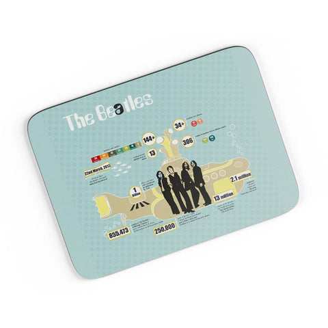 Everything About Beatles Infographic A4 Mousepad Online India