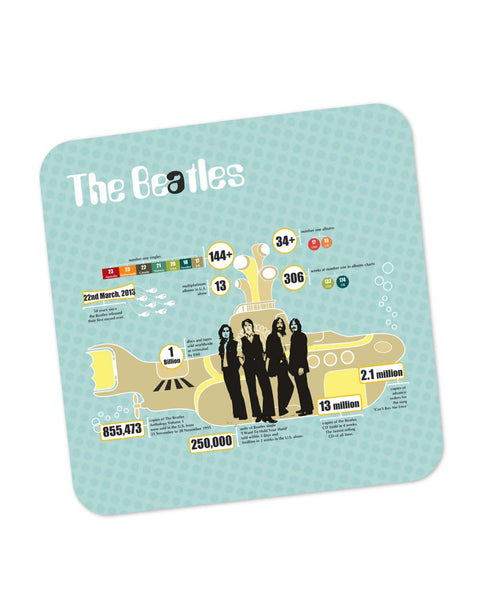 Buy Coasters Online | Everything About Beatles Infographic Coaster Online India | PosterGuy.in