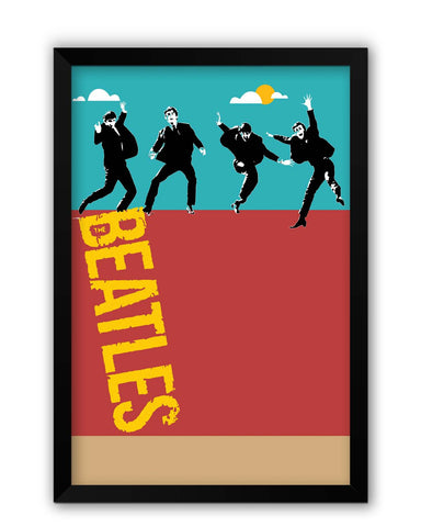 Framed Posters | Beatles In The Sky | Pop Art Laminated Framed Poster Online India