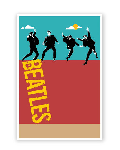 Posters Online | Beatles In The Sky | Pop Art Poster Online India | Designed by: Design Walrus