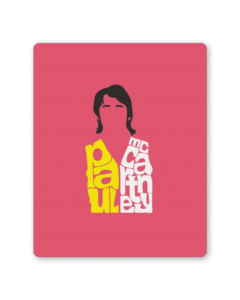 Buy Mousepads Online India | Paul Mccartney Typography | Beatles Mouse Pad Online India