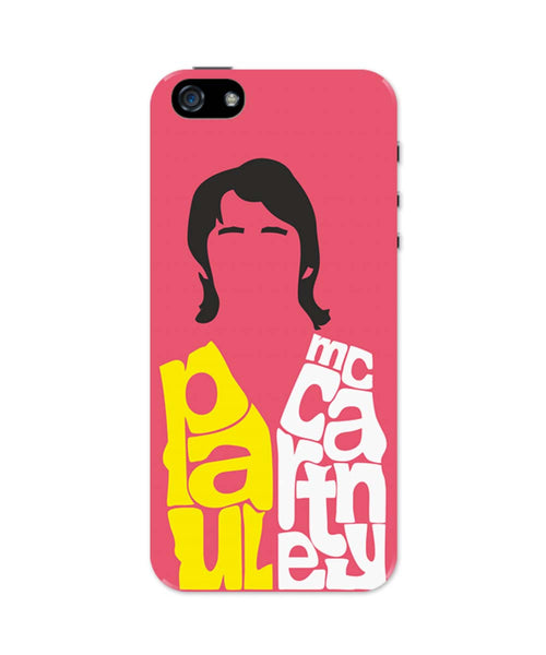 iPhone 5 / 5S Cases & Covers | Paul McCartney Typography | Beatles iPhone 5 / 5S Case Online India