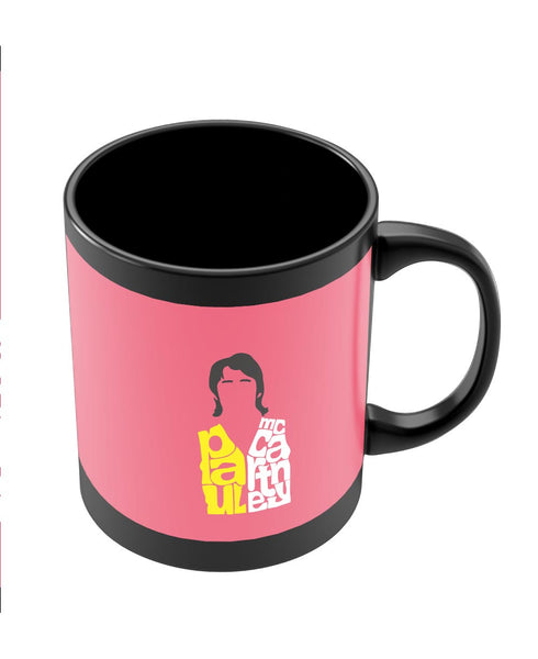 Coffee Mugs Online | Paul Mccartney Typography | Beatles Black Coffee Mug Online India